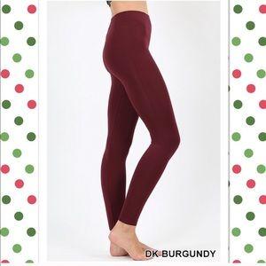 Dark Burgundy Stretchy Leggings in Sm/Med & L/XL